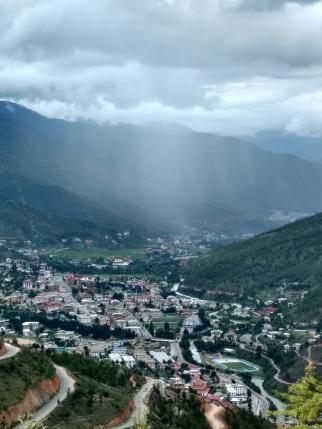 Rain over Thimphu